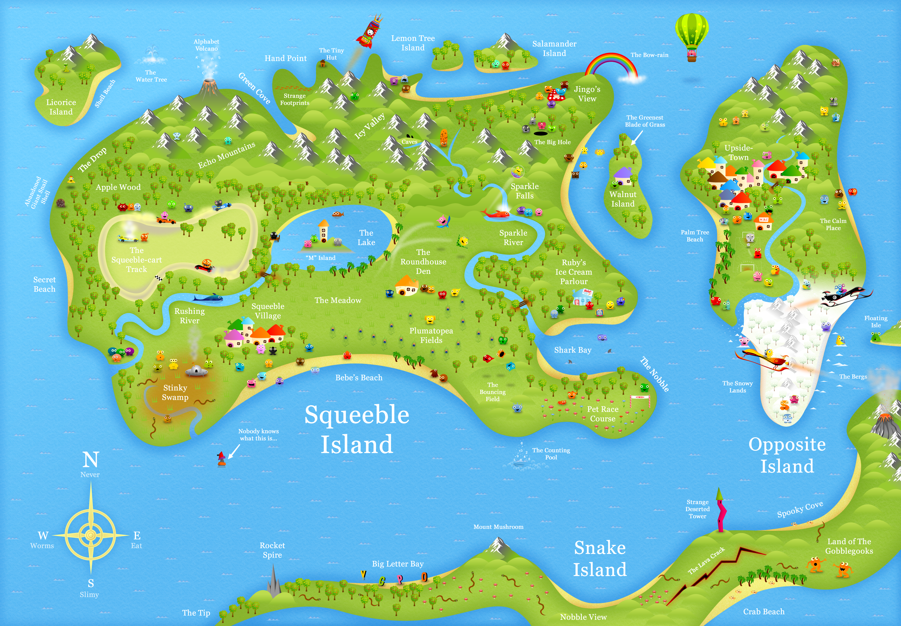 Educational apps for children keystagefun map of squeeble island gumiabroncs Image collections