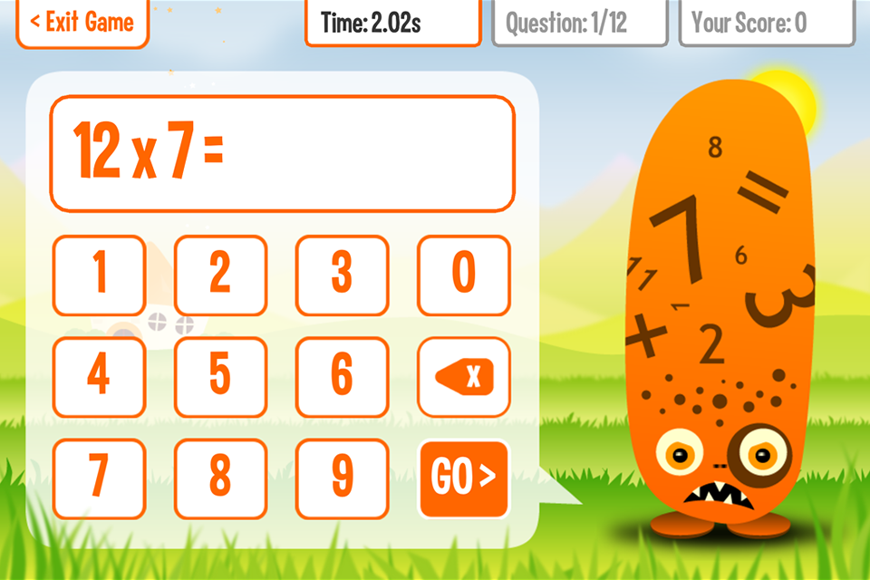Times tables app squeebles tt2 for 1 to 12 times table games